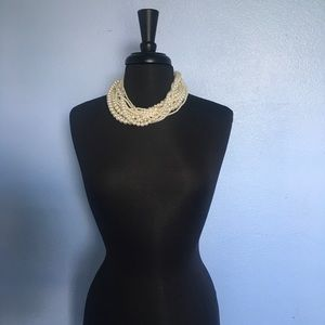 Jewelry - Multi Strand Faux Pearl Necklace